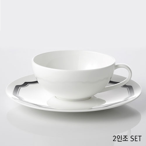 [화이트블룸] Black Edition Origin Teacup / Saucer 2인세트